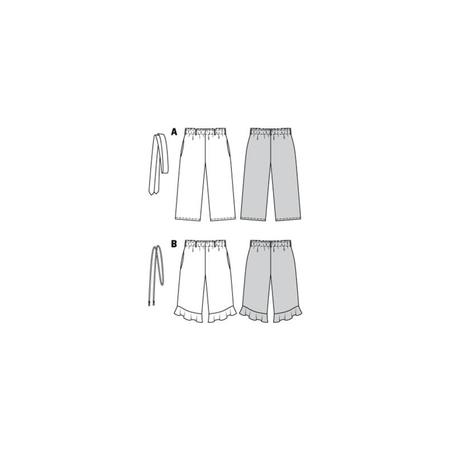 Wykrój BURDA: spodnie zgumą wpasie ikuloty o długości 7/8, fig. 10