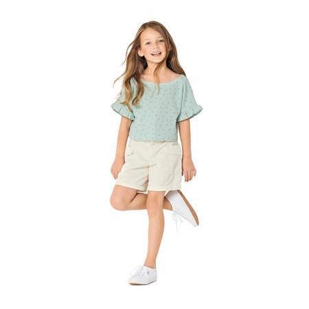 Wykrój BURDA: bluzka lub tunika z rękawami krojonymi zcałości ifalbankami, fig. 2