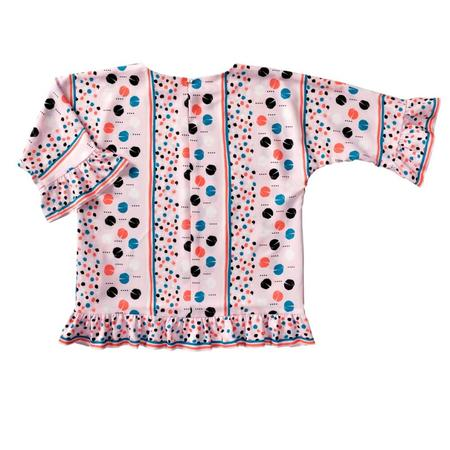 Wykrój BURDA: bluzka lub tunika z rękawami krojonymi zcałości ifalbankami, fig. 5