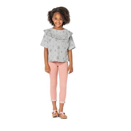 Wykrój BURDA: bluzka lub tunika z rękawami krojonymi zcałości ifalbankami, fig. 3