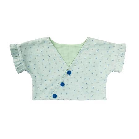 Wykrój BURDA: bluzka lub tunika z rękawami krojonymi zcałości ifalbankami, fig. 9