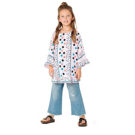 Wykrój BURDA: bluzka lub tunika z rękawami krojonymi zcałości ifalbankami, fig. 4