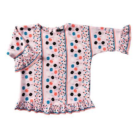 Wykrój BURDA: bluzka lub tunika z rękawami krojonymi zcałości ifalbankami, fig. 6