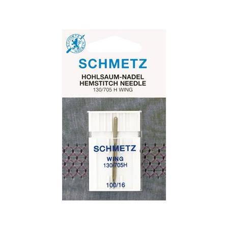 Igła Schmetz ze skrzydełkiem do mereżki 130/705H WING 1x100, fig. 1