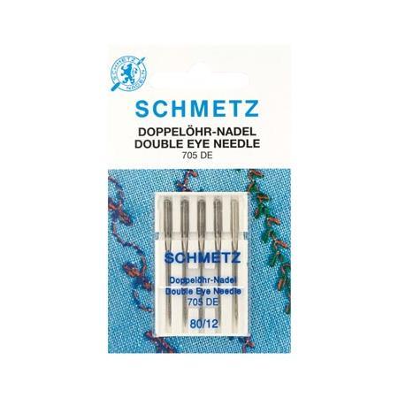 Igły do maszyn do szycia Schmetz z podwójnym okiem 5x80, fig. 1