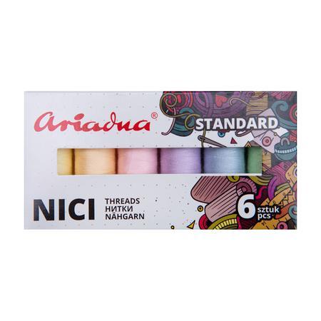 Zestaw 6 nici do szycia Ariadna Talia 120 Pastel (pastelowe), fig. 2