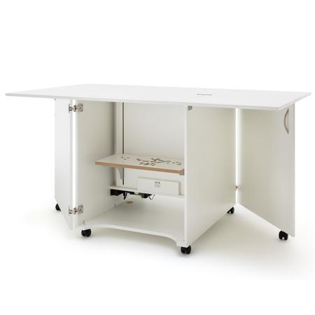 Stół drewniany rozkładany CRAFT pod maszynę do szycia, fig. 1