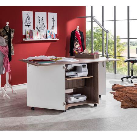 Stół drewniany rozkładany CRAFT pod maszynę do szycia, fig. 4