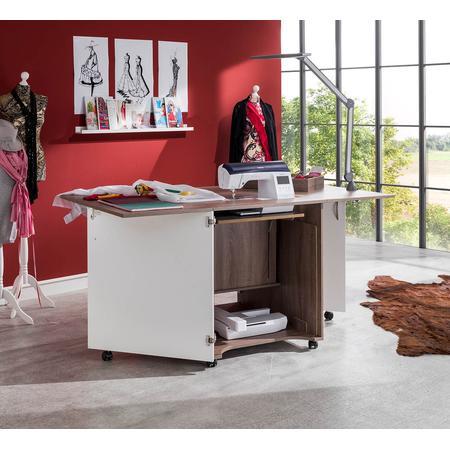 Stół drewniany rozkładany CRAFT pod maszynę do szycia, fig. 5