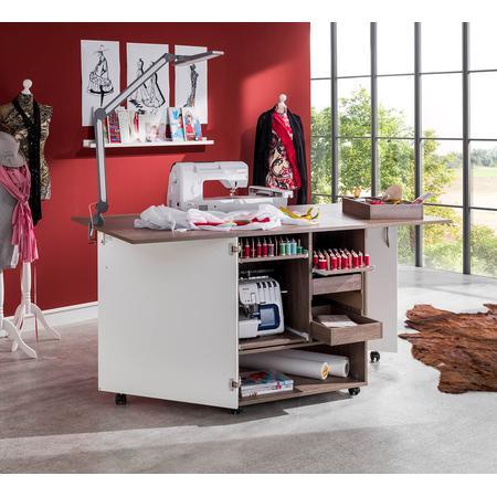Stół drewniany rozkładany CRAFT pod maszynę do szycia, fig. 6