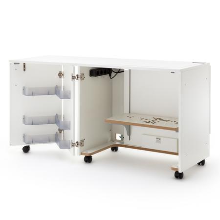 Stół drewniany rozkładany BASE pod maszynę do szycia, fig. 1