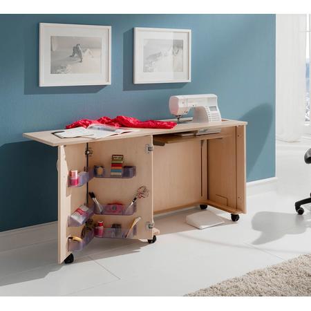 Stół drewniany rozkładany BASE pod maszynę do szycia, fig. 5