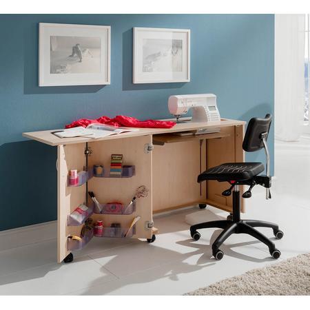 Stół drewniany rozkładany BASE pod maszynę do szycia, fig. 6