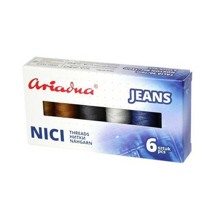 Zestaw 6 nici do jeansu Ariadna Talia 30/Nokton 80C w pudełku, fig. 1
