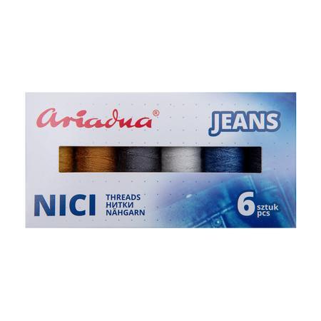 Zestaw 6 nici do jeansu Ariadna Talia 30/Nokton 80C w pudełku, fig. 2