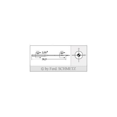 Igły Schmetz 135x17 SES SERV 7 do stebnówek do szycia dzianin - różne grubości, fig. 2