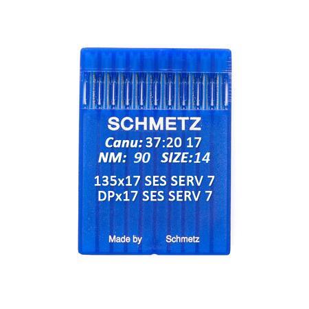 Igły Schmetz 135x17 SES SERV 7 do stebnówek do szycia dzianin - różne grubości, fig. 1