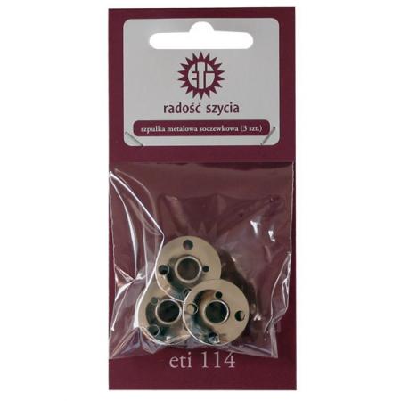 Zestaw szpulek metalowych soczewkowych (3szt), fig. 1