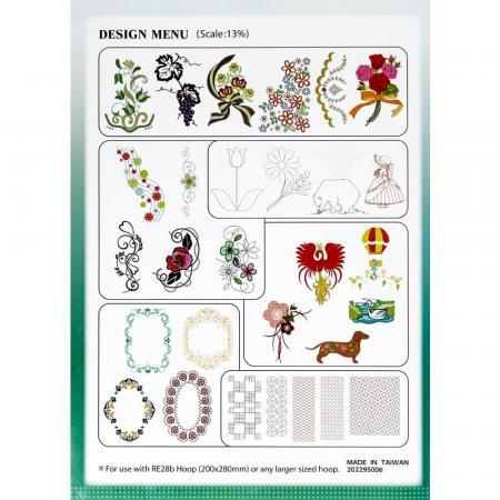 Kolekcja haftów JANOME Large Embroidery Design Collection, fig. 2