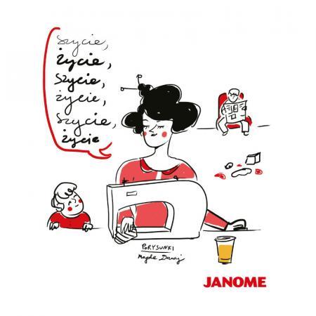 Plakat z porysunkiem Janome 8, fig. 1