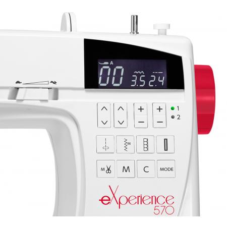 Maszyna Elna 550 eXperience - czytelny wyświetlacz