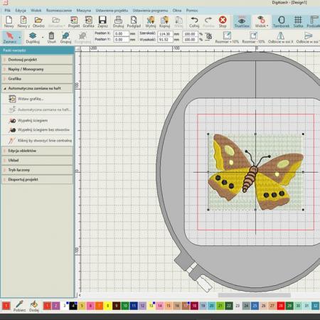Janome Digitizer JR podstawowy program do projektowania haftów ver. 5.0, fig. 2