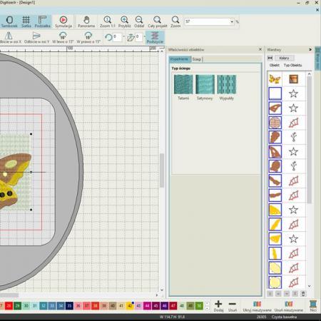 Janome Digitizer JR podstawowy program do projektowania haftów ver. 5.0, fig. 3