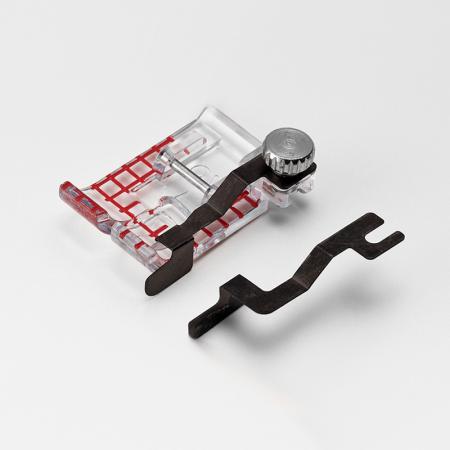 Stopka przezroczysta z prowadnikami (do maszyn z szerokością ściegu 9 mm), fig. 5