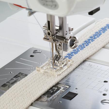 Stopka do naszywania aplikacji i ściegów ozdobnych (do maszyn z szerokością ściegu 9 mm), fig. 1