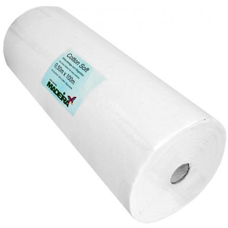 Stabilizator wydzierany Madeira Cotton Soft biały (50cm x 100m), fig. 1