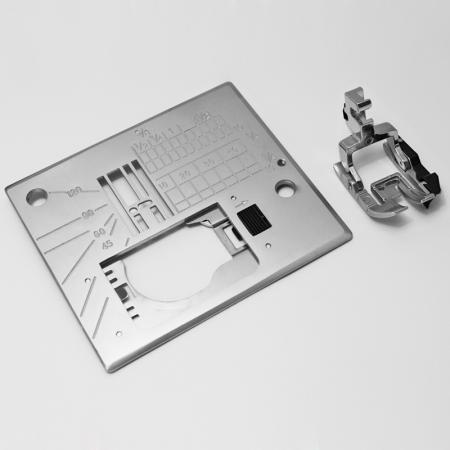 Stopka krawędziowa i płytka do maszyn Janome MC6600P, fig. 1