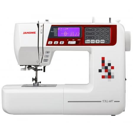 Maszyna do szycia JANOME TXL607 + 3 stopki, nici, szpulki i igły GRATIS, fig. 1