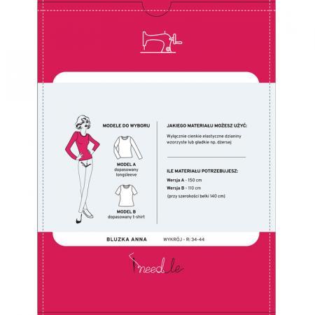 Wykrój na klasyczną bluzkę damską, fig. 2