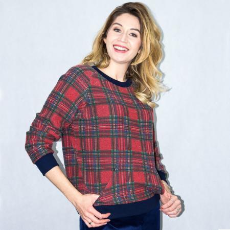 Wykrój na bluzę damską z rękawem raglanowym, fig. 3