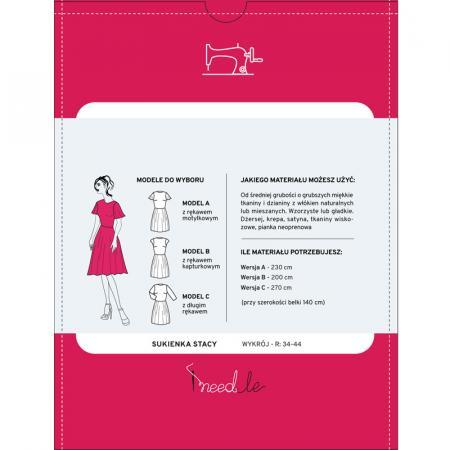 Wykrój na klasyczną, damską sukienkę, fig. 2