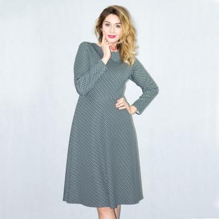 Wykrój na klasyczną, damską sukienkę, fig. 4