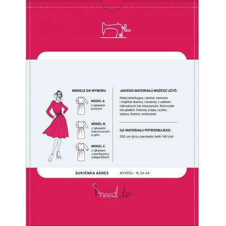 Wykrój na damską sukienkę, fig. 2