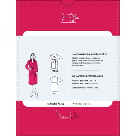 Wykrój na prosty płaszcz damski, fig. 2