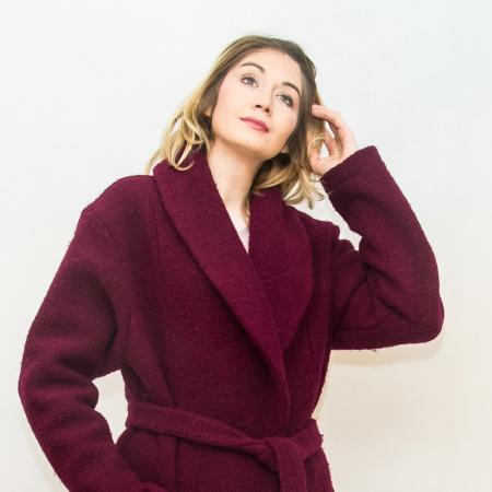 Wykrój na prosty płaszcz damski, fig. 4