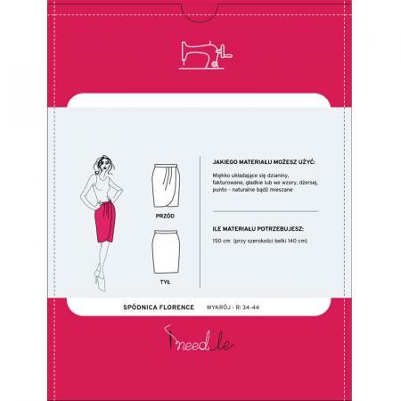 Wykrój na spódnicę damską z zakładkami, fig. 2