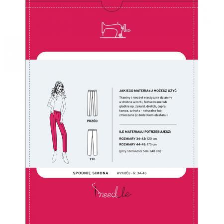 Wykrój na spodnie damskie typu cygaretki, fig. 2