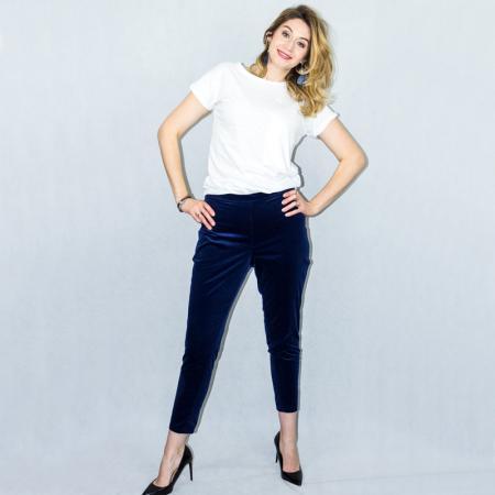Wykrój na spodnie damskie typu cygaretki, fig. 3