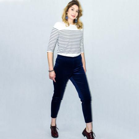 Wykrój na spodnie damskie typu cygaretki, fig. 4