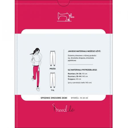 Wykrój na damskie spodnie dresowe, fig. 2