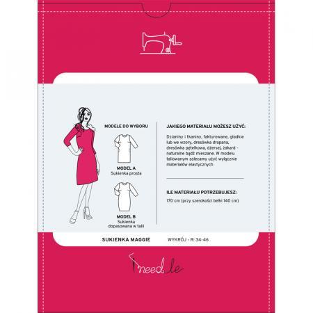 Wykrój na prostą damską sukienkę, fig. 2