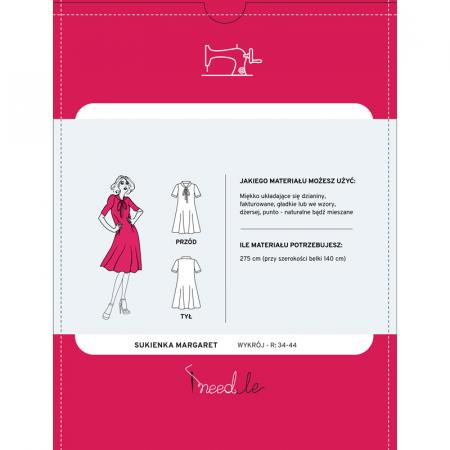 Wykrój na damską sukienkę z wiązanym dekoltem, fig. 2