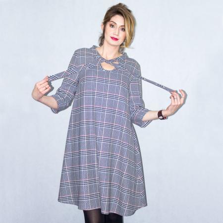 Wykrój na damską sukienkę z wiązanym dekoltem, fig. 3