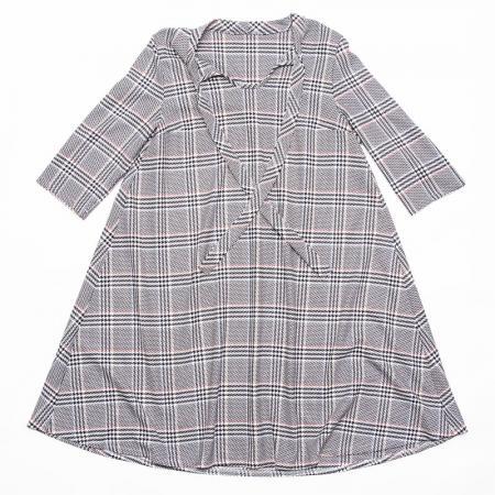 Wykrój na damską sukienkę z wiązanym dekoltem, fig. 5
