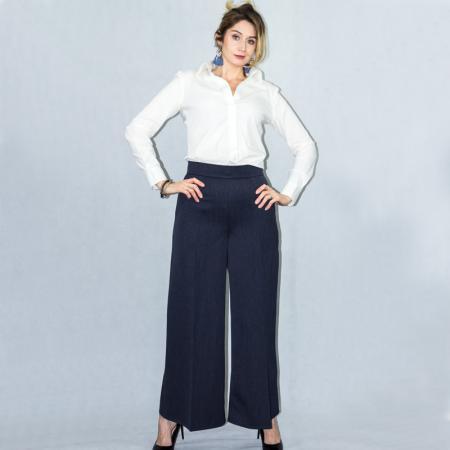 Wykrój na damskie spodnie z szerokimi nogawkami, fig. 3