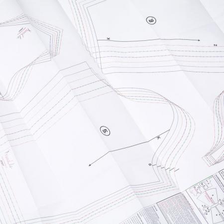 Wykrój na damskie spodnie z szerokimi nogawkami, fig. 7